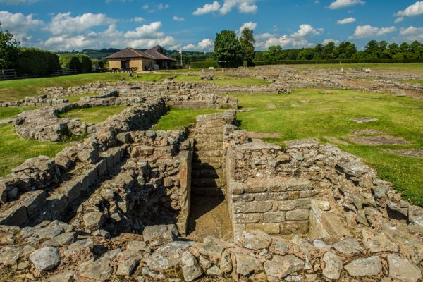 Corbridge Roman Town photo, The west headquarters building