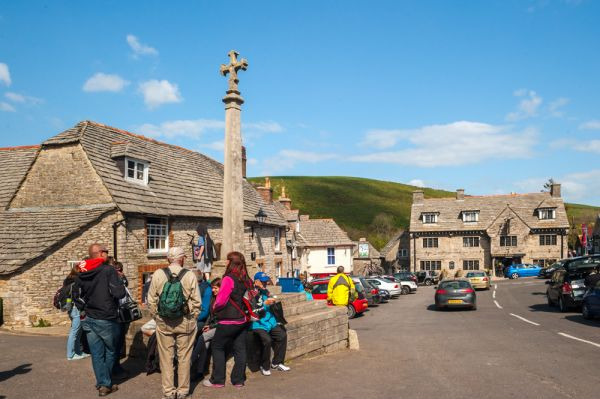 Corfe Castle village photo, The market cross