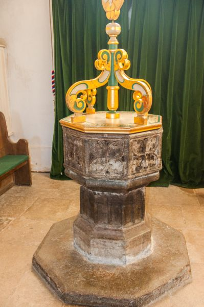 Corfe Castle, St Edward the Martyr Church photo, The 15th century font