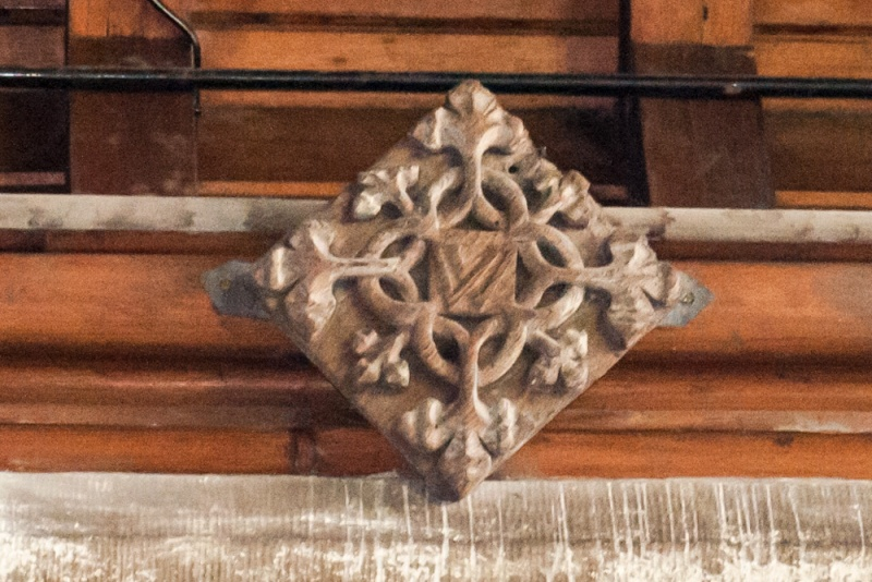 15th century roof boss in the sanctuary