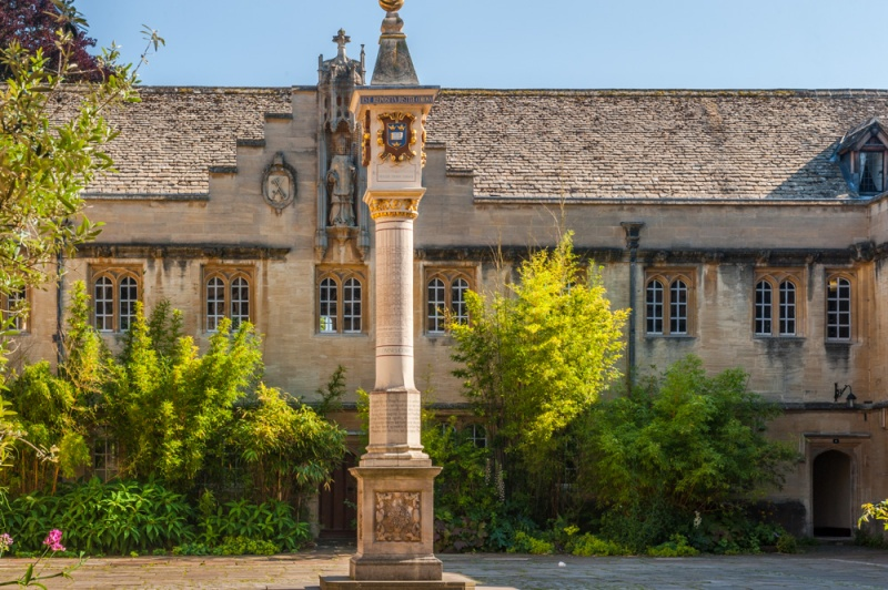 The main quad and Turnbull Sundial