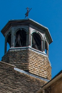 Cupola and weather vane atop the almshouses