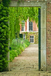 A garden walk at Cottesbrooke