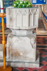 A side view of the Norman font