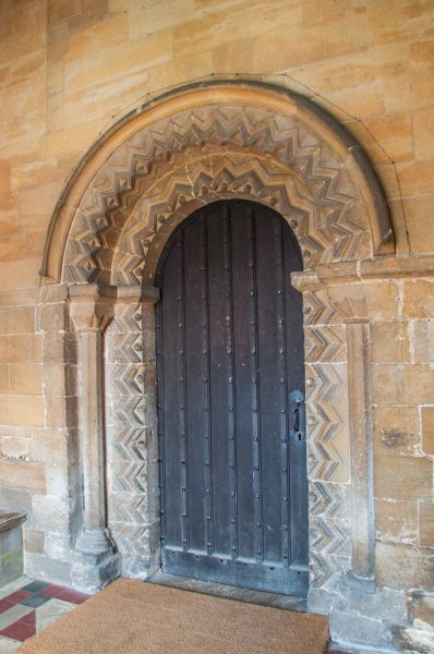 Cottesmore, St Nicholas Church photo, The beautifully carved 12th century doorway