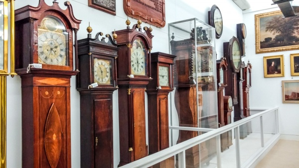 Display of Coventry long case clocks