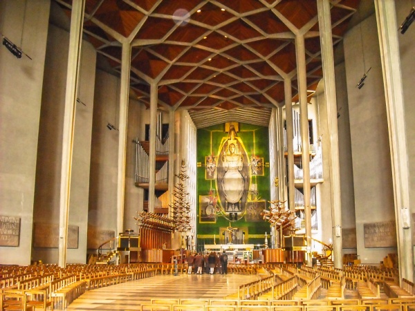Inside the new cathedral