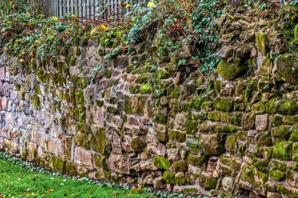 Another section of the city walls in Lady Herbert's Garden
