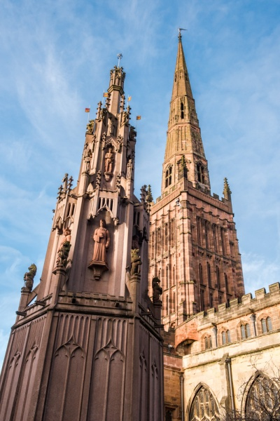 Coventry Cross and Holy Trinity spire