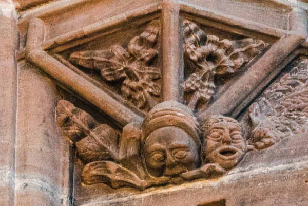 Medieval carving of a Green Man