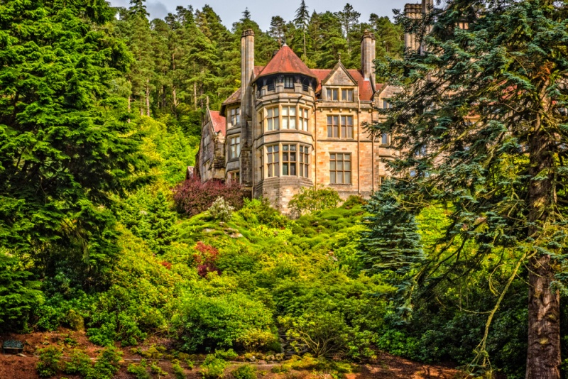Cragside from the rock gardens