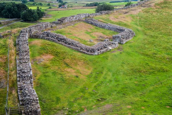 Cawfields Roman Wall (Hadrian's Wall) photo, Milecastle 42 from the west