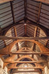 The chancel timber roof