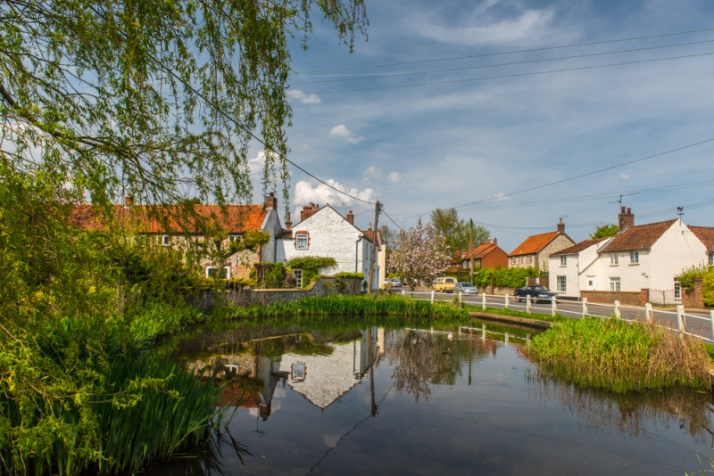 The village duckpond at Docking, Norfolk