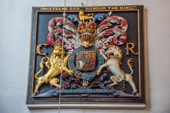 Dorchester, St Peter's Church, Royal coat of arms to Charles I