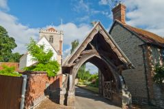 The lych gate leading to Dorchester Abbey