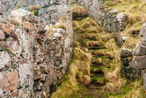 The upper stairs to the castle