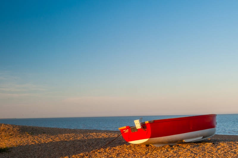 A boat on the beach at Dunwich
