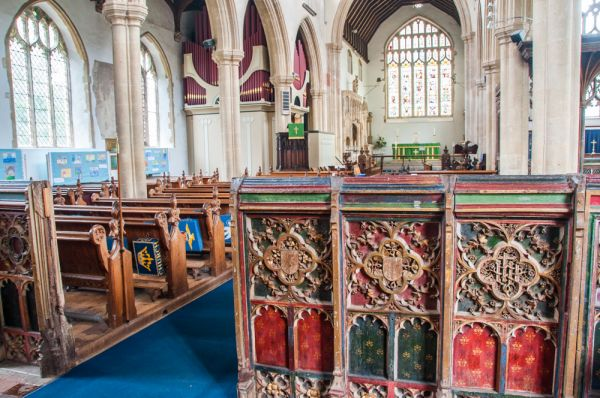 East Harling, St Peter & St Paul's Church photo, Painted panels in the nave