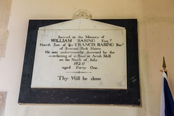 East Lulworth, St Andrew's Church photo, Memorial to William Baring, d. 1820