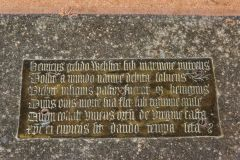East Lulworth, St Andrew's Church, 16th century memorial brass