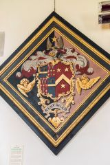 East Lulworth, St Andrew's Church, Weld family funeral hatchment