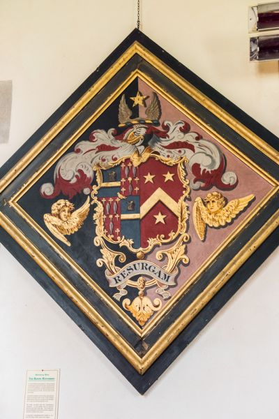 East Lulworth, St Andrew's Church photo, Weld family funeral hatchment