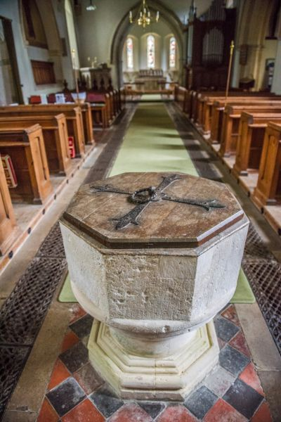 East Tytherley, St Peter's Church photo, The 13th century font