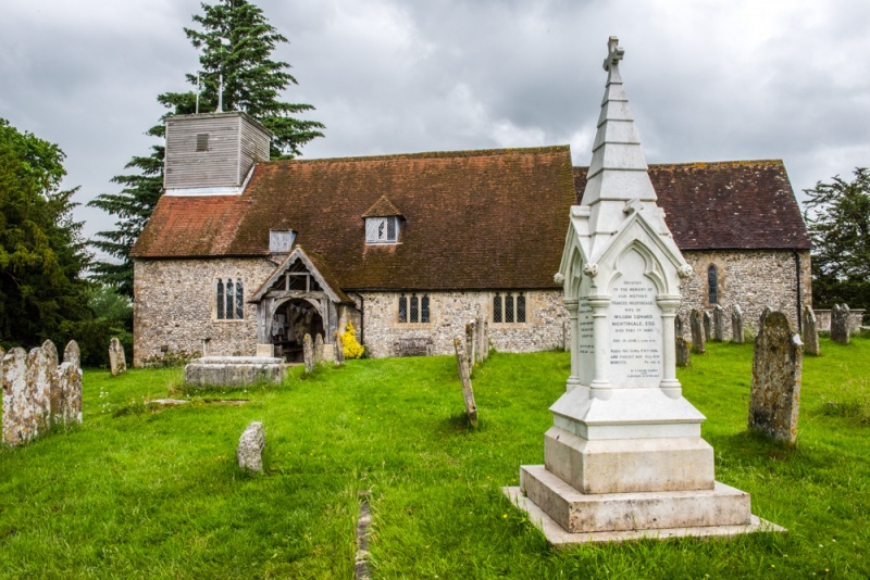 St Margaret's Church and Florence Nightingale memorial, East Wellow