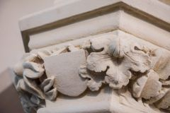 Beautifully carved nave capitals