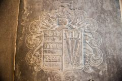 Edmondsham, St Nicholas Church, Thomas Hussey grave slab, 1684