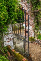 Edmondsham House and Gardens, Wrought-iron gate to the walled garden
