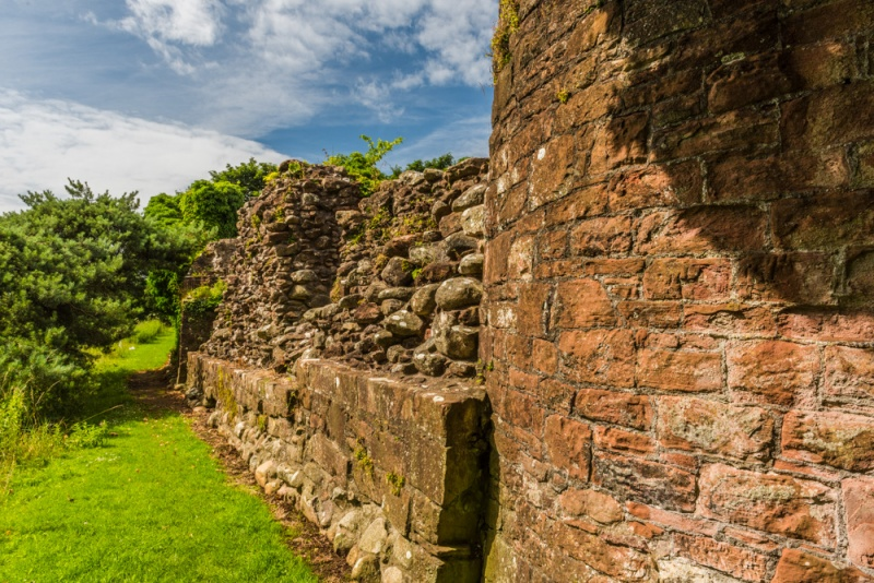 Remains of the curtain wall at Egremont Castle