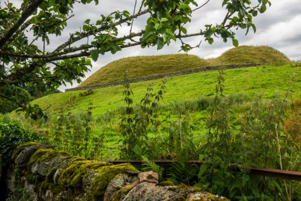 Elsdon Castle photo, Another view of the twin mounds
