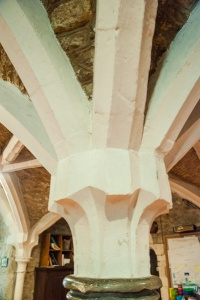 Detail of the vestry vaulting