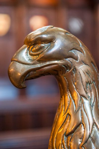 Oxford, Exeter College photo, Brass eagle lectern in the chapel