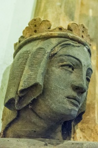 Carved head of a princess