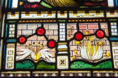 Detail of Victorian stained glass