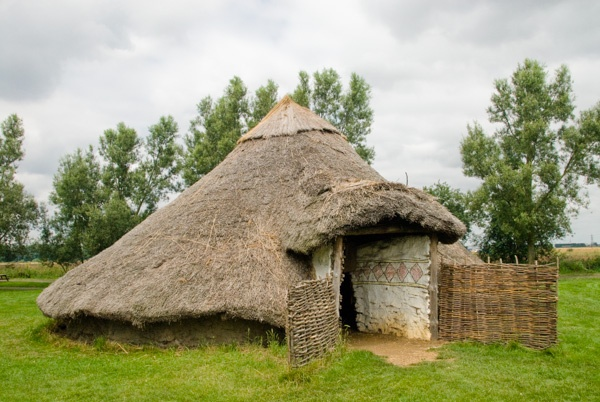 Reconstructed Iron Age hut at Flag Fen