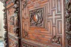 A beautifully carved Jacobean panel