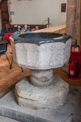 The 14th century Purbeck marble font