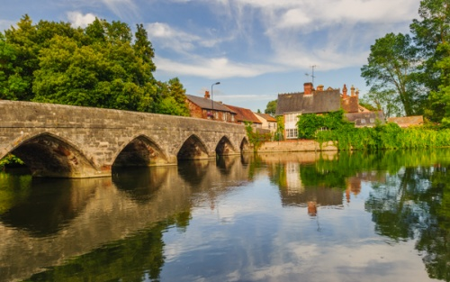 The historic bridge at Fordingbridge