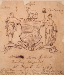 William Hogarth's sketch for the Hospital's coat of arms