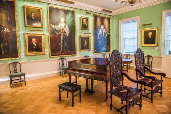 Foundling Museum photo, The ornately decorated hall