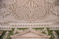 Decorative plasterwork in the Court Room