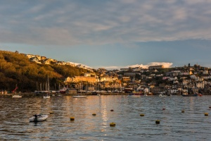 Fowey harbour at sunset