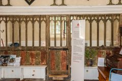 Remains of the medieval painted screen