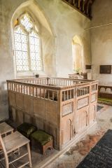 Frenze, St Andrew's Church, The early 17th century Blennerhassett family stall