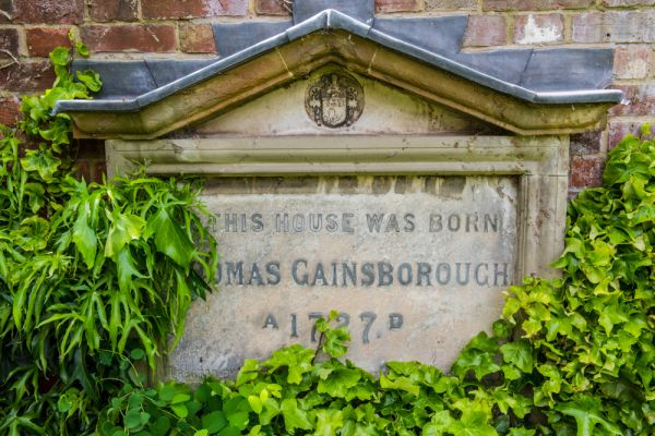 Gainsborough's House photo, Commemorative plaque to Gainsborough in the gardens