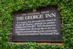 National Trust information plaque about the Inn